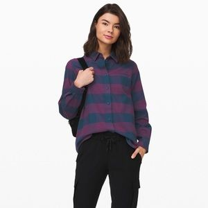 Lululemon Full Day Ahead Flannel Shirt Plaid 6